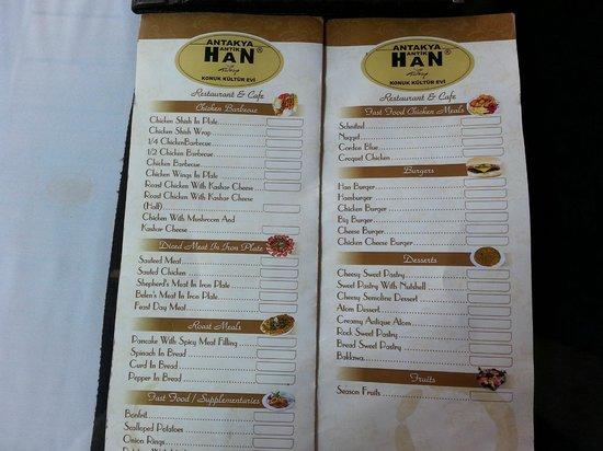 Han Restaurant: Menu 3