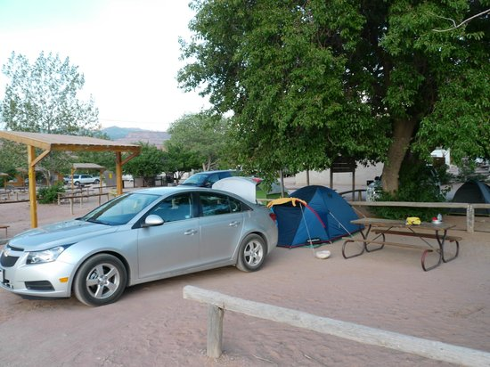 Moab KOA Campground: Emplacement