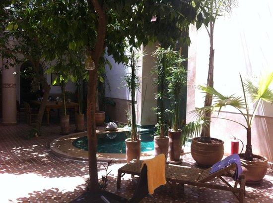 Riad Rafaele: Courtyard view