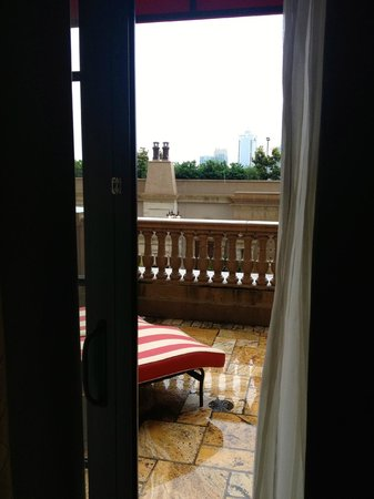 The St. Regis Atlanta: Looking out from the Caroline Astor Suite overlooking pool