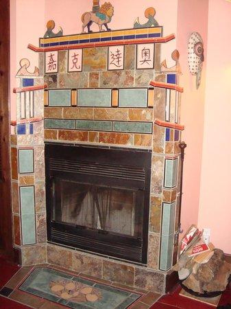 Au Gite du Cerf Argente : Beautiful tile work
