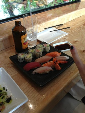Sushi Ran: Sushi lunch w/Ginger beer
