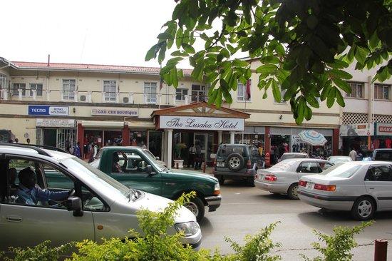The Lusaka Hotel Main Entrance on Cairo Road