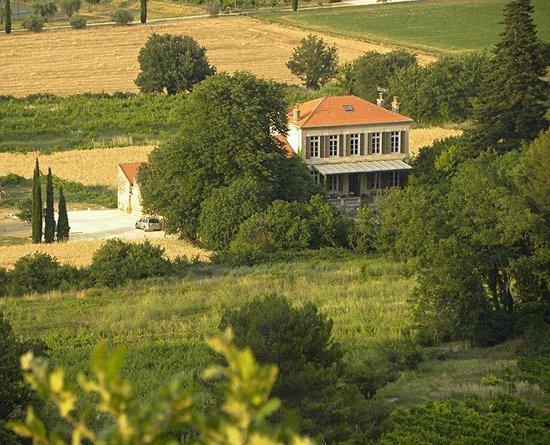 Les Chenes : la villa dall'alto (dalla chiesa di Oppède-le-Vieux)