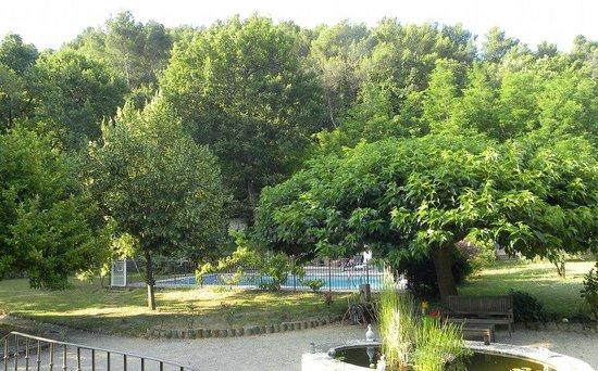 Les Chenes : Il giardino con la piscina
