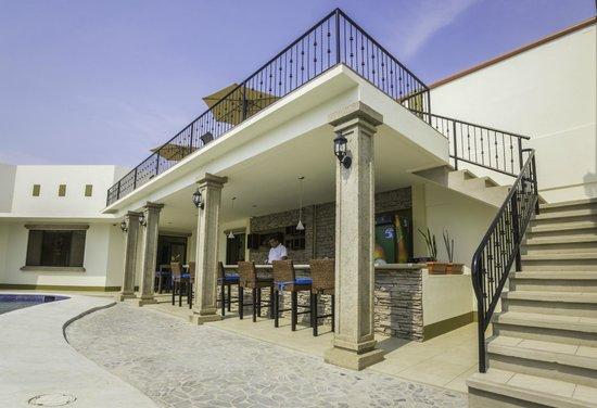 Hotel Frontera: Terraza