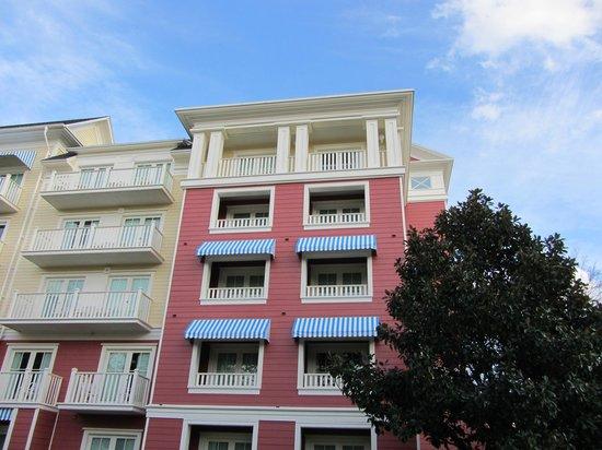 Disney's BoardWalk Villas: Our Villa from the Hollywood Studios walkway