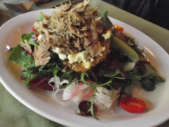 Locals Restaurant at the Old House: Christine's Quackery Duck Salad     Warm slow cooked duck leg confit served on Mesclun greens wi