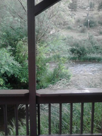 Loveland Heights Cottages: View from deck by the river