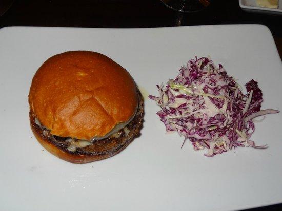 Bashan Restaurant: The special filet mignon hamburger.