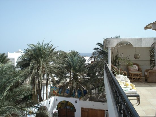Dahab Coachhouse : view from top floor, Owners live here and is private area but it shows distance to waterfront