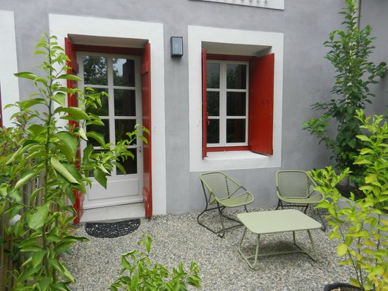 Les Chambres d'Andréa : Notre petite terrasse privée