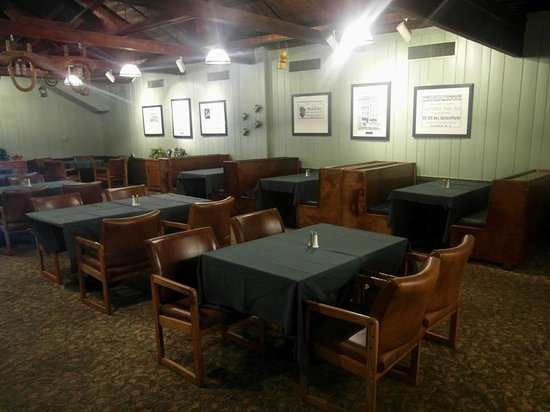 The Village Blacksmith Steakhouse: Seating is available in the bar or in the Albany Room.