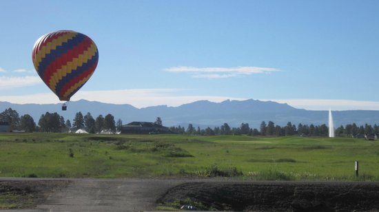 Wyndham Pagosa: A hot air ballon launched early every morning ...