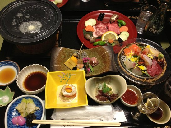 Oosawa Onsen Sansuikaku : 山水閣での夕食