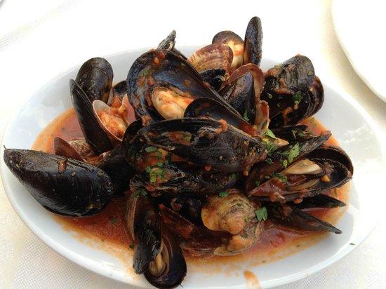 Ristorante Pizzeria Santa Maria: Mussels with tomato sauce