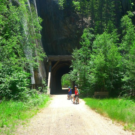George S. Mickelson State Trail : One of the tunnels you can go thru