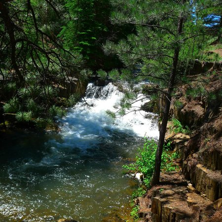 George S. Mickelson State Trail : Dumont Pass to Mystic ..there is a nice waterfall.