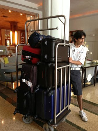 The Raleigh Miami Beach: Tons of luggage
