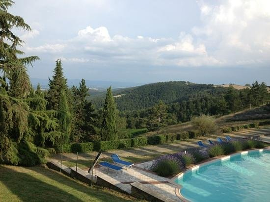 Sassi Bianchi: The view from the villa