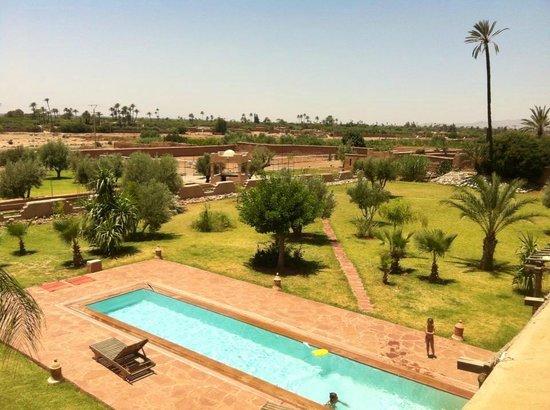 Jnane Allia : View on the terrasse