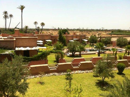 Jnane Allia: View on the terrasse