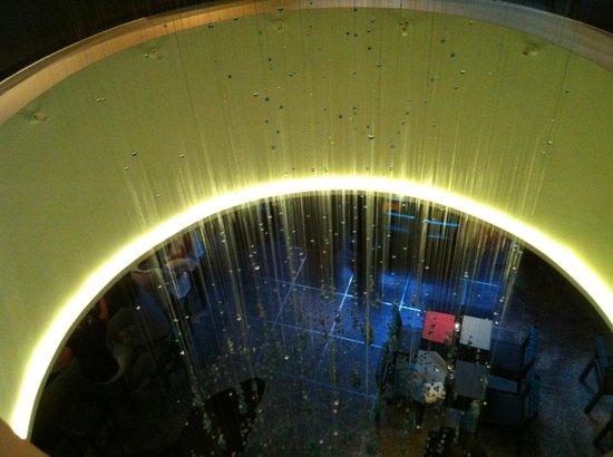La Mar Cebicheria: beautiful centerpeice corn chandelier