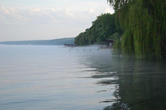 The Pearl of Seneca Lake B&B: lakeside in the evening