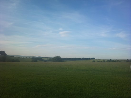 Shallow Grange Farm Campsite : View from our tent in the rear field