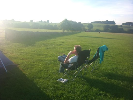 Shallow Grange Farm Campsite: Our very own front row seat to a beautiful sunset