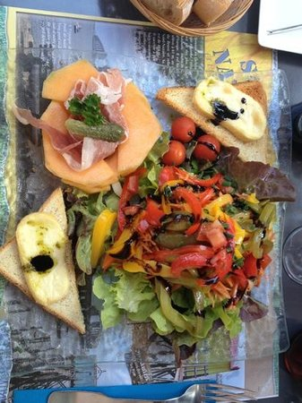 Restaurant la Source des Lys : salade de la terre