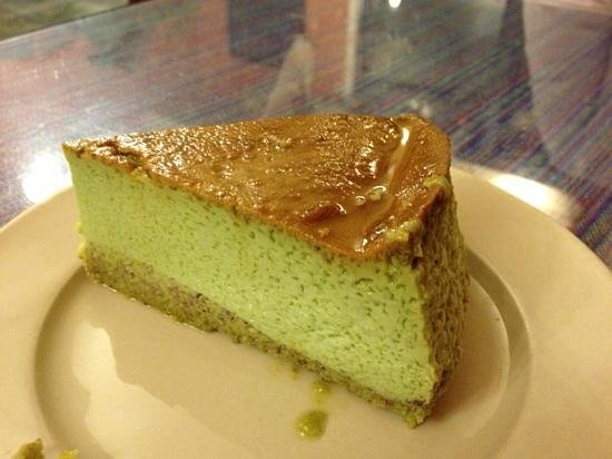 Moles La Tia : Pistachio Flan - made with real pistachios, a must try