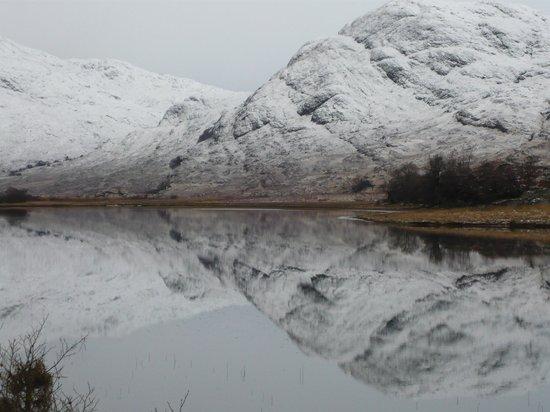 Ard Daraich: Glen Gour after a fall of snow.