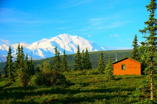 Camp Denali: Another view of the mountain