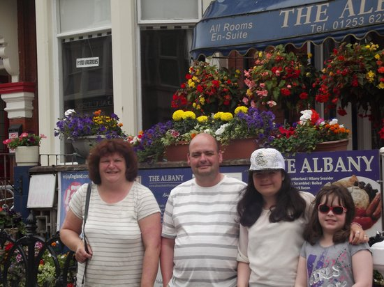 The Albany Hotel on Albert Road: Outside THE best hotel in Blackpool