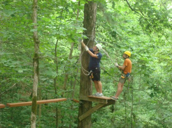 Historic Banning Mills Zip Line Canopy Tours: Working the ledges