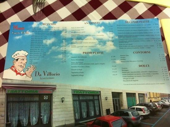 Trattoria da Vittorio: menu