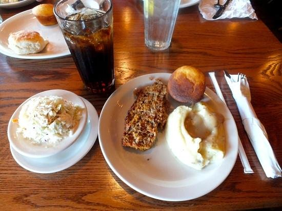 Cracker Barrel Old Country Store and Restaurant: Meatloaf Lunch Special