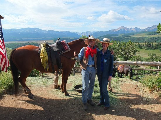 Telluride Horseback Adventures - Ride with Roudy: The view from Roudy's barn