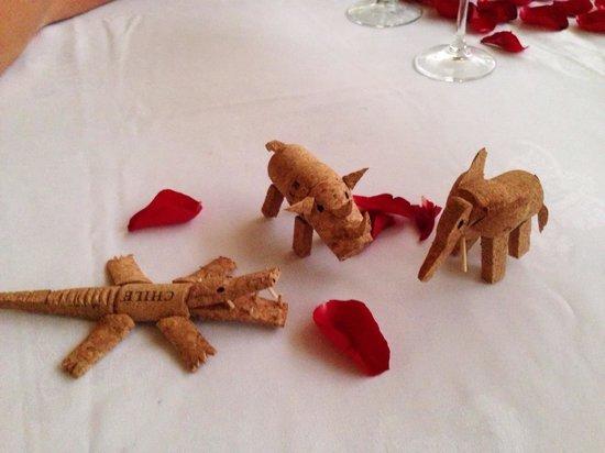 Casa Velas : Animals made of champagne corks, compliments of Benny (best waiter/bartender)