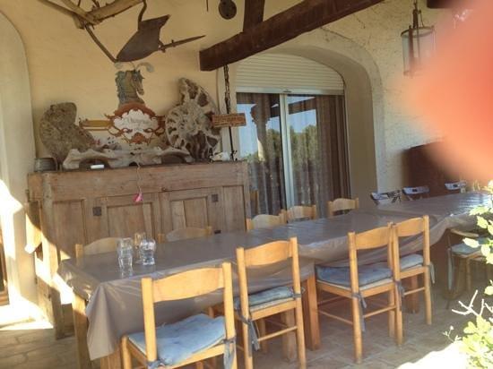 Orangeraie de la Baronne : La tavola dove si cena