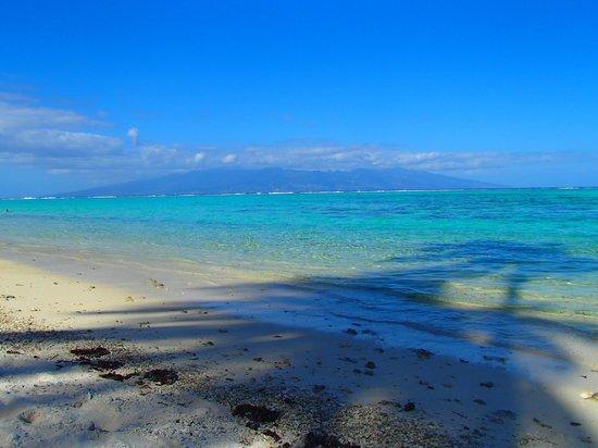 Temae Beach: View of Tahiti-Nui