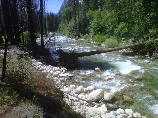Roaring River Falls: View of the South Fork of the Kings River from the River Trail