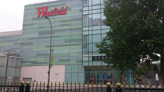 Westfield shopping centre directly across the road from the abbey hotel