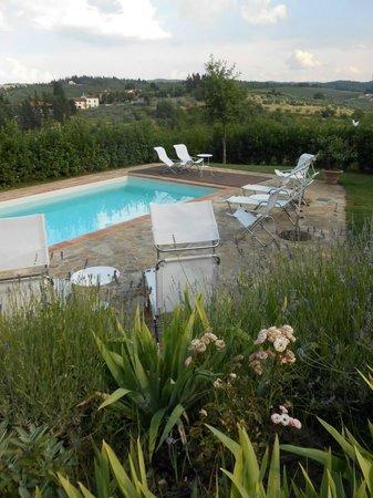 La Compagnia del Chianti: Great view and pool