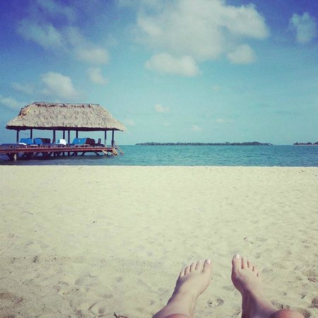 Chabil Mar: Laying on the beach looking out