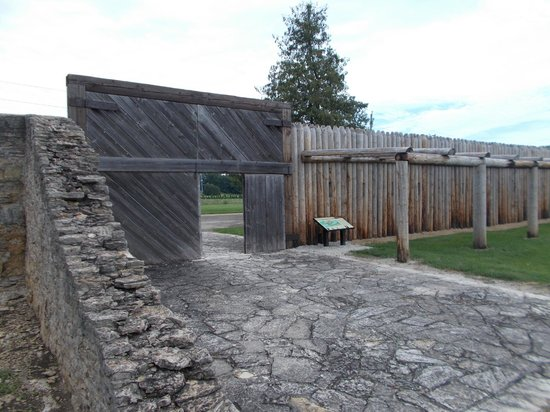 Fort Atkinson, IA: The fort entrance today where it actually wasn't in the 1800s
