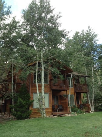 Aspen Winds on Fall River: Outside view of our cabin/condo