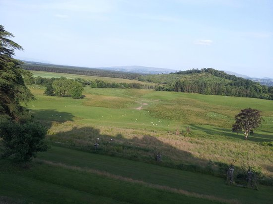 Gartmore House: Evening view from room across to Stirling