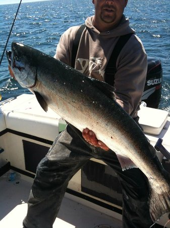 Beasley's Fishing Charters: Darren holding our big catch for the day